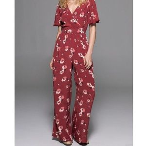 Band of Gypsies Floral Wide Leg Jumpsuit Small